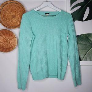 J. Crew Wool Chunky Knit Sweater Sea Green
